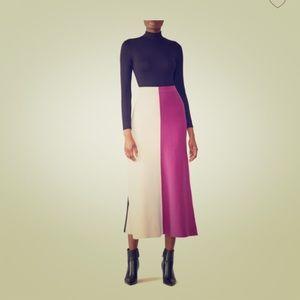 Derek Lam knit colorblock midi skirt